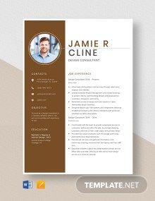 Design Consultant Resume Template