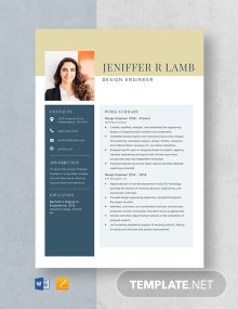 Design Engineer Resume Template