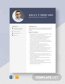 Design Printing Machine Setter Resume Template