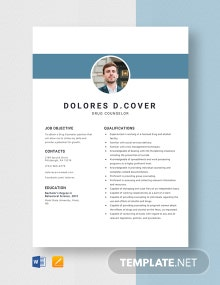 Drug Counselor Resume Template