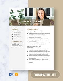 Emr Project Manager Resume Template