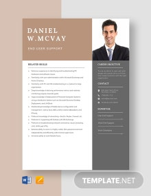 End User Support Resume Template