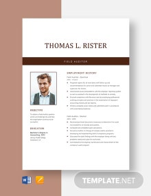Field Auditor Resume Template