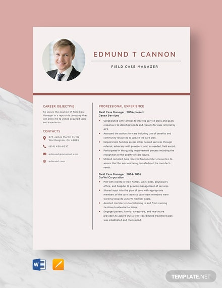 Field Case Manager Resume