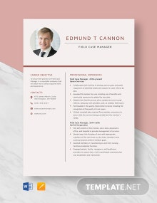 Field Case Manager Resume Template