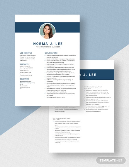 Field Marketing Manager Resume Download