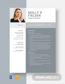 Front-End Manager Resume Template