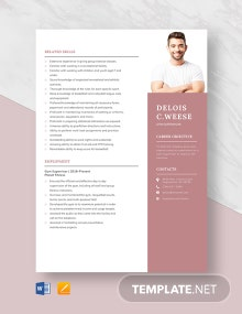 Gym Supervisor Resume Template