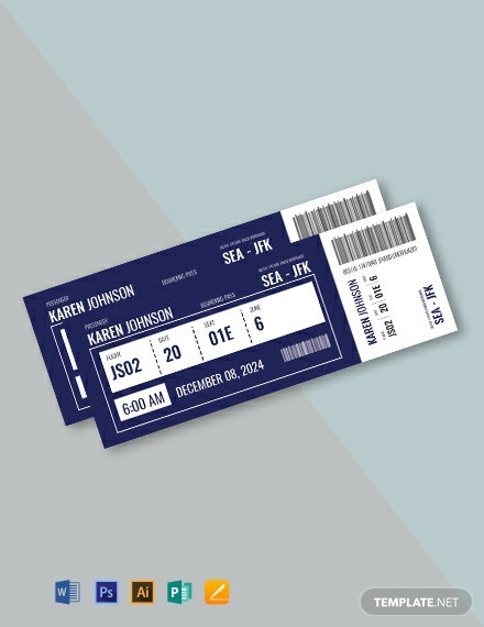 Free Plane Ticket Template