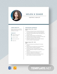 Contract Analyst Resume Template