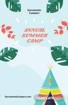 Free Summer Camp Poster Template
