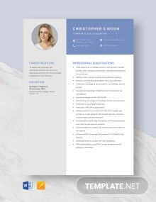 Corporate Tax Accountant Resume Template