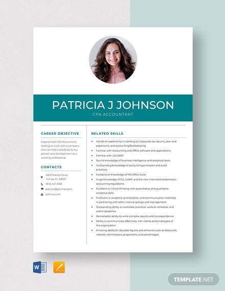 CPA Accountant Resume Template