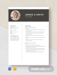 CPR Trainer Resume Template