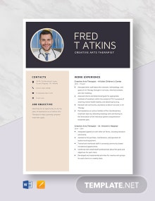 Creative Arts Therapist Resume Template