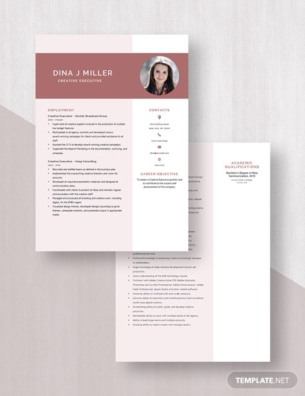 Creative Executive Resume Download