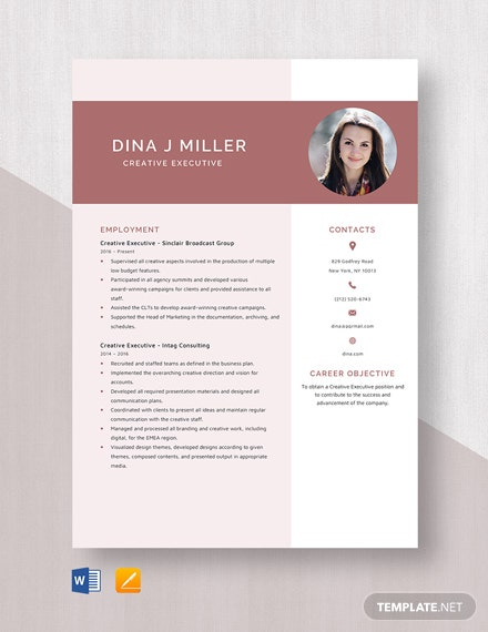 Creative Executive Resume Template