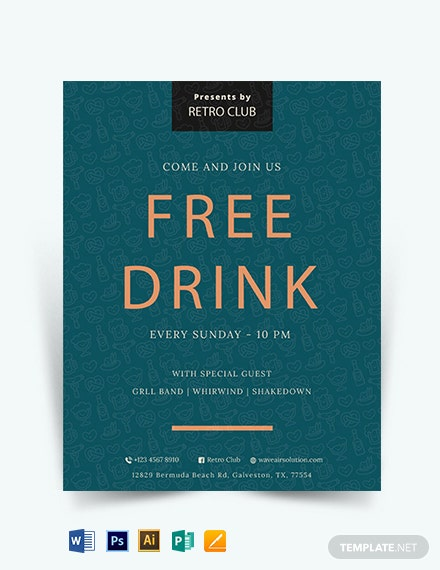 Drink Promotion Flyer Template