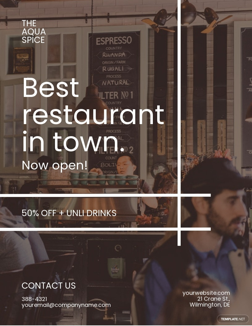 Restaurant Promotion Flyer Template