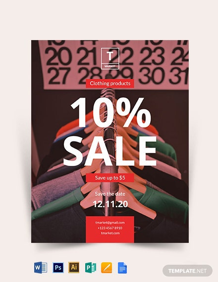 Sale Promotion Flyer Template