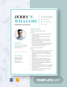 Corporate Accountant Resume Template