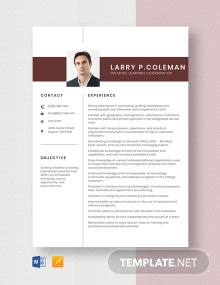 Distance Learning Coordinator Resume Template