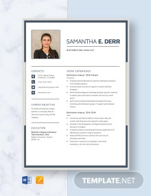 Distribution Analyst Resume Template
