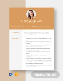 District Attorney Resume Template