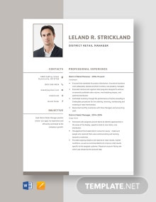 District Retail Manager Resume Template