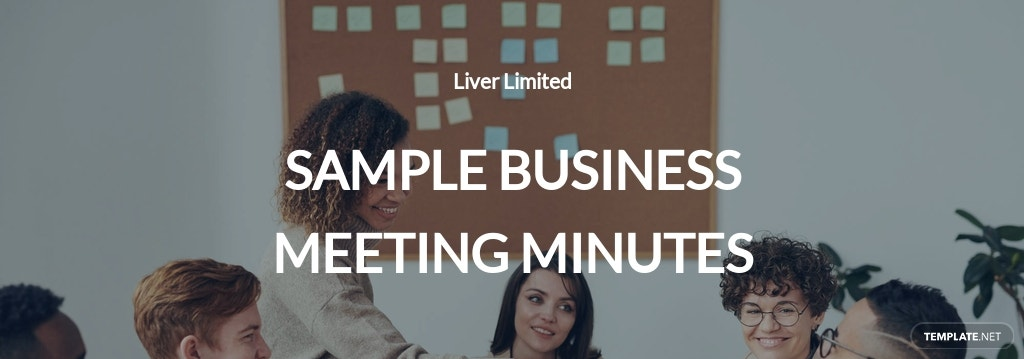Sample Business Meeting Minutes Template