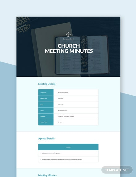Free Church Meeting Minutes Template