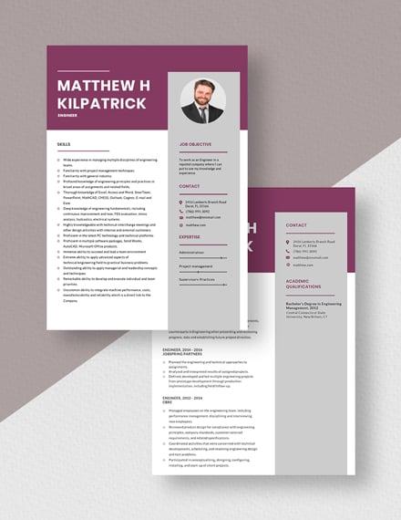 Engineer Resume Download