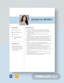 ER Technician Resume Template