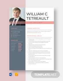 Event Designer Resume Template