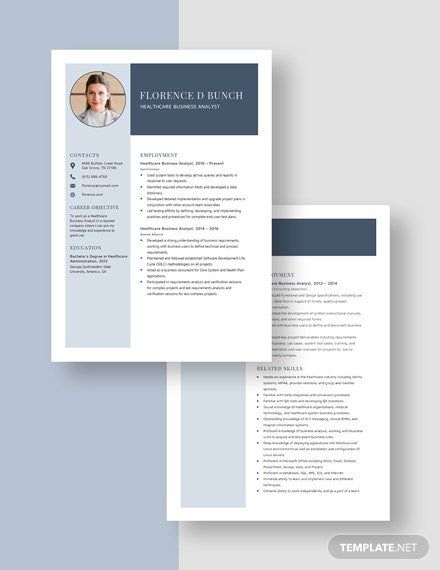 Healthcare Business Analyst Resume Download