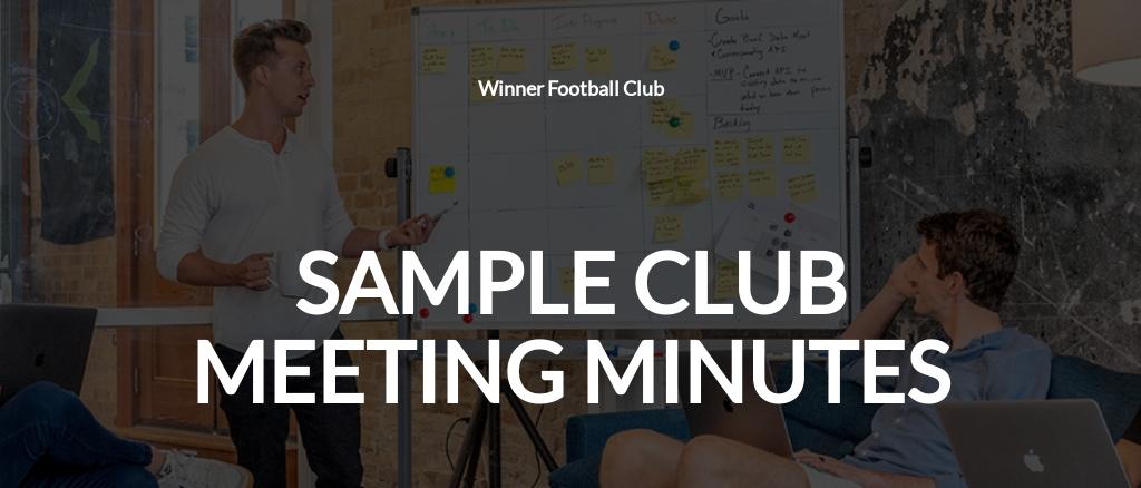 Free Sample Club Meeting Minutes Template.jpe