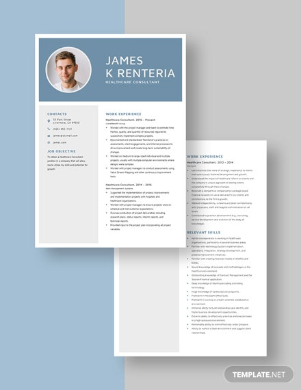 Healthcare Consultant Resume Download