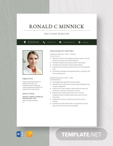 Healthcare Recruiter Resume Template