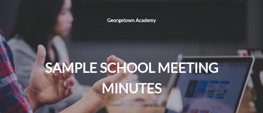 Free Sample School Meeting Minutes Template.jpe