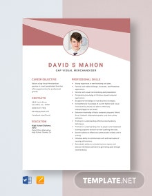 Gap Visual Merchandiser Resume Template
