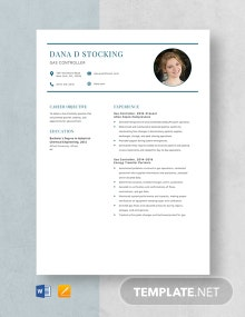 Gas Controller Resume Template