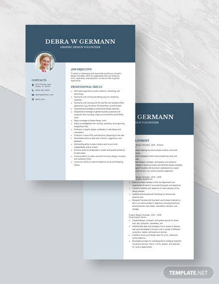 Graphic Design Volunteer Resume Download