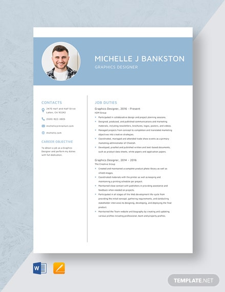 Graphics Designer Resume Template
