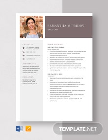 Grill Chef Resume Template