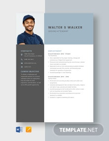 Ground Attendant Resume Template