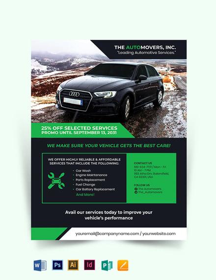 Automotive Business Flyer Template