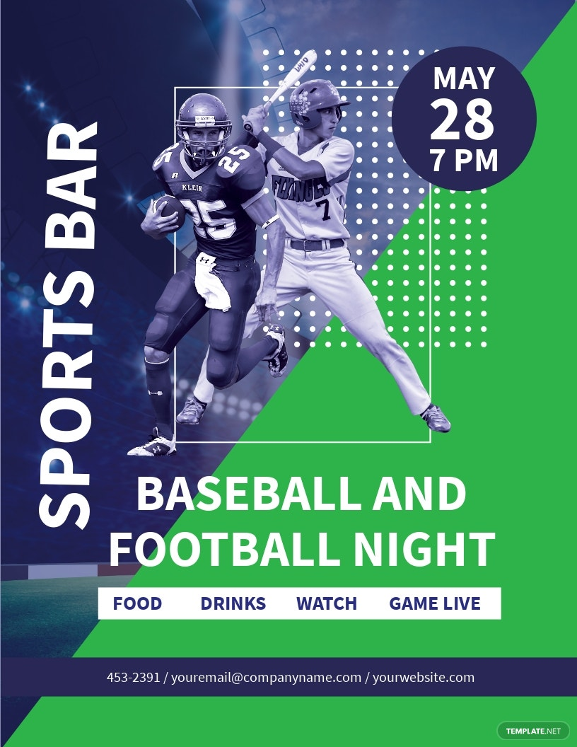 Baseball And Football Flyer Template