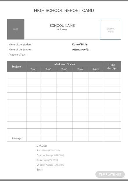 High school report card template in microsoft word pdf apple pages high school report card template maxwellsz