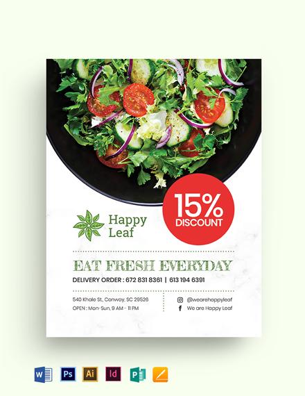 Vegetarian Salad Food Flyer Template