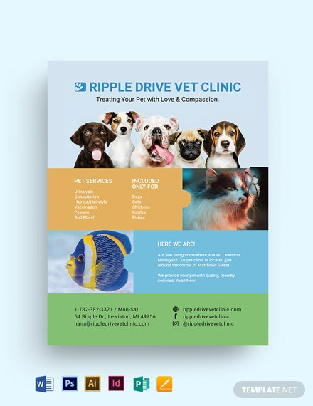 Vet Clinic Flyer Template
